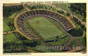 Bowman Gray Memorial Stadium, Winston-Salem, North Carolina, USA Football Sta...