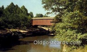 Narrows, Turkey Run State Park, IN USA Covered Bridge Unused