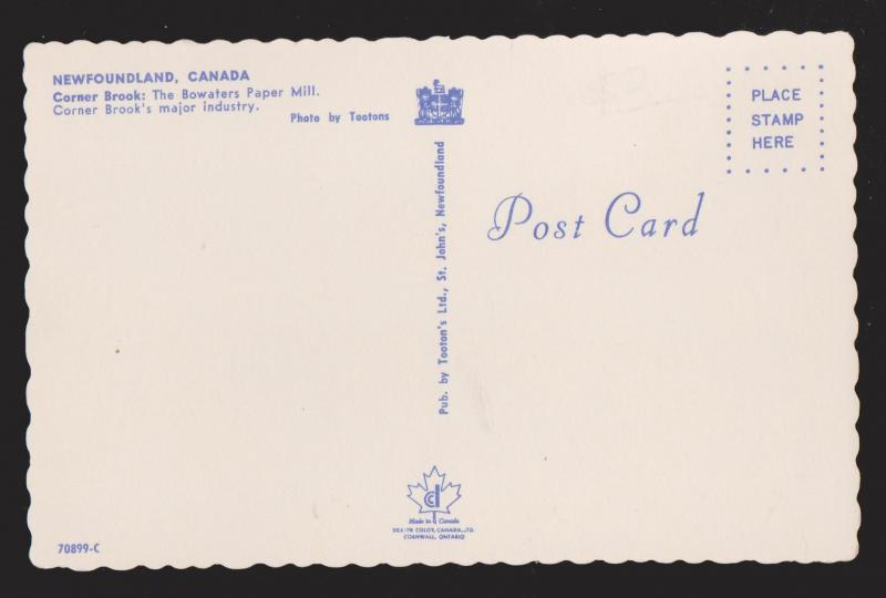 NEWFOUNDLAND - Bowater's Paper Mill, Corner Brook - Unused