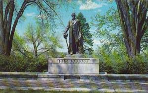 New York Ithaca Ezra Cornell Statue At Cornell University 1960