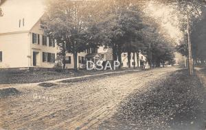 Vermont Vt  Real Photo RPPC Postcard c1910 GRAFTON Main Street? Homes