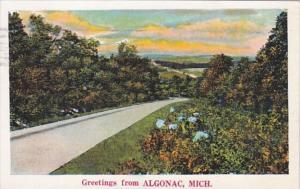 Michigan Greetings From Algonac 1932