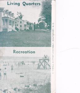 SOUTHPORT, North Carolina, PU-1952; 2-Views, Living Quarters, Recreation