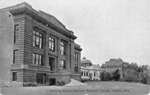 Greeley Colorado Teachers College Training School Antique Postcard K92004