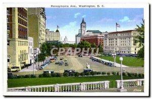 USA Old Postcard Pennsylvania Ave DC WAshington