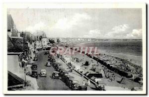 Old Postcard La Baule Boulevard of & # 39ocean Taken from & # 39hotel Adriana