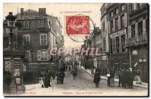 Verdun - Street of & # 39Hotel City - Pharmacy - Hairdresser - Old Postcard