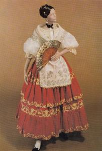Festival Costume Spain Valencia London Museum Exhibit Fashion Postcard