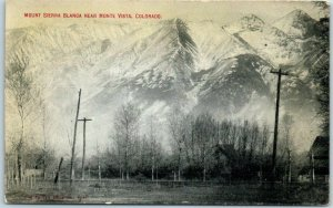 Monte Vista, Colorado Postcard MOUNT SIERRA Bird's-Eye View c1910s Unused