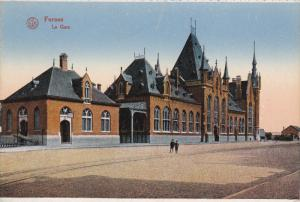 FURNES, West Flanders, Belgium, 1900-1910´s; La Gare