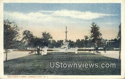 Van Vorst Park Jersey City NJ 1957