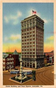 Pennsylvania Lancaster Greist Building and Penn Square 1956 Curteich