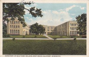 Mississippi Gulfport West Beach Dormitory Of Gulf Park College Curteich