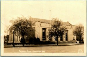 Longview, Washington RPPC Real Photo Postcard FEDERAL BUILDING Ellis 6712