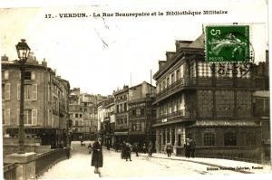 CPA  Verdun - La Rue Beaurepaire et la Bibliothéque Militaire     (178087)