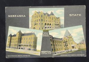 HASTINGS NEBRASKA STATE HOSPITAL FOR THE INSANE VINTAGE POSTCARD