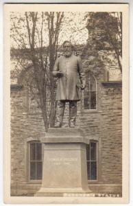 RPPC, Beecher's Statue, Elmira NY