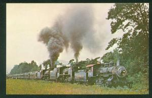 Steamtown Nos. 15 653 1246 Engines Green Mountain RR Railfan Railroad Postcard