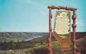 Highway viewpoint overlooking beautiful Reeser Lake,  The Cypress Hills,  Alb...