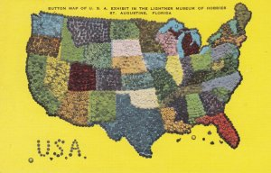ST. AUGUSTINE , Florida , 1930-40s ; USA Button Map