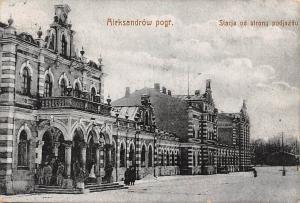 Poland Aleksandrow pogr., Stacja od strony podjazdu, Feldpost