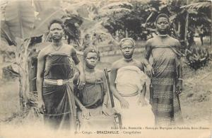 Congo Brazzaville congolese native women