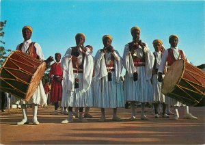 Tunisia traditional folkloristic group of djerba cloth dancers Postcard