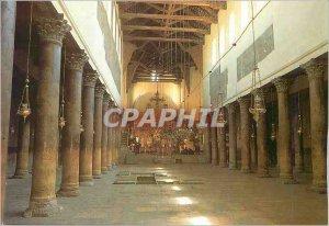 Postcard Modern Inside Bethlehem Nativity Church