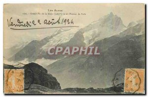 Old Postcard The Grand Alps Peak of Meije seen the Plateau de Paris