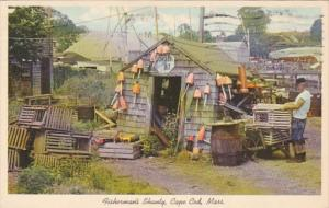 Massachusetts Cape Cod Typical Fisherman's Shanty 1971