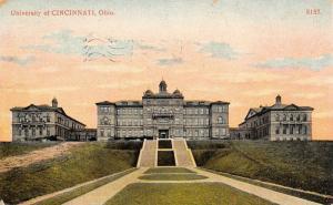 University of Cincinnati Ohio~Grand Staircase Up to Campus Buildings~1909 PC