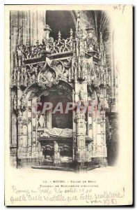 Old Postcard Bourg Brou Church Tomb of Margaret of Authiche