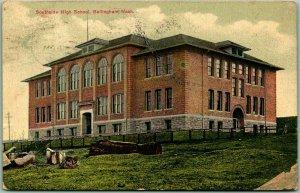 1910 Bellingham, Washington Postcard Southside High School Building View