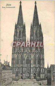 Postcard Old Koln Dom Vorderansicht