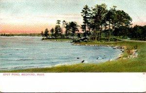 Massachusetts Medford Scene Along Spot Pond