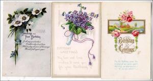 3 - Birthday Cards, Flowers