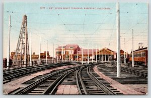 Berkeley California~Key Route Ferry Terminal~Electric Trolley Lines~c1910