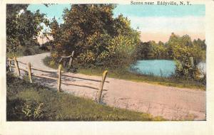 Eddyville New York Scenic Drive Antique Postcard J71941