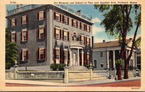 Maine Portland Art Museum and School Of Fine and Applied Arts 1948 Curteich
