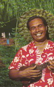 Hawaii Kauai Hawaiian Serenader Greeting Visitors To Fern Grotto 1972