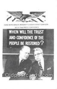 Postcard Ford with Senate Minority Leader Everett Dirksen