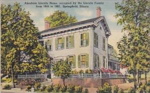 Illinois Springfield Abraham Lincoln Home Occupied By The Lincoln Family From...