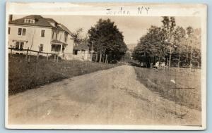 Postcard NY Jordan New York Bank Street c1916 RPPC Real Photo S11