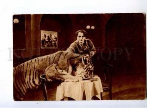 244026 Harry PIEL German MOVIE ACTOR w/ TIGER Vintage Russian