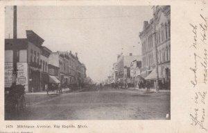 BIG RAPIDS , Michigan, PU-1906 ; Michigan Avenue