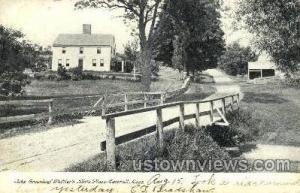 John Whittier's Birth Place Haverhill MA 1907