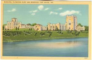 Municipal Filtration Plant and Reservoir, Fort Wayne, Indiana, unused linen