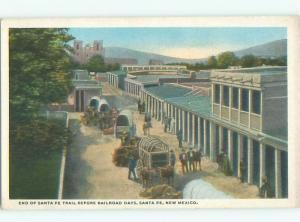 W-Border WESTERN SCENE - END OF SANTA FE TRAIL Santa Fe New MEXICO W5815