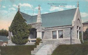 Maine Bucksport Buck Memorial Libeaey 1912