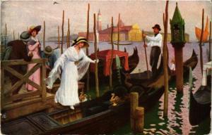 CPA AK Salon de 1914 LEONE DE JONCIERES L'Heure mauve a Venise (707552)